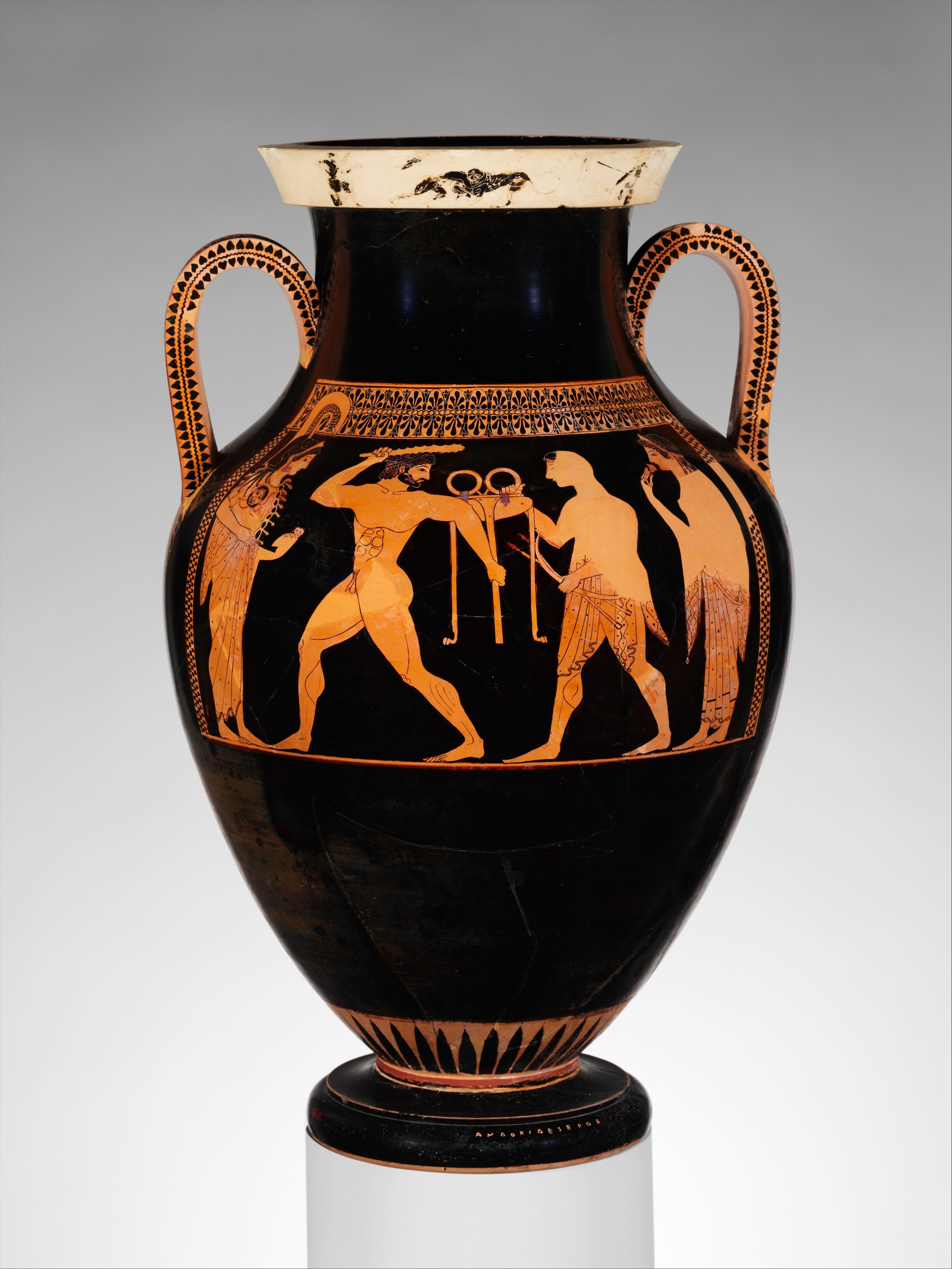 RED and BLACK (bilingual amphora) by the Andokides