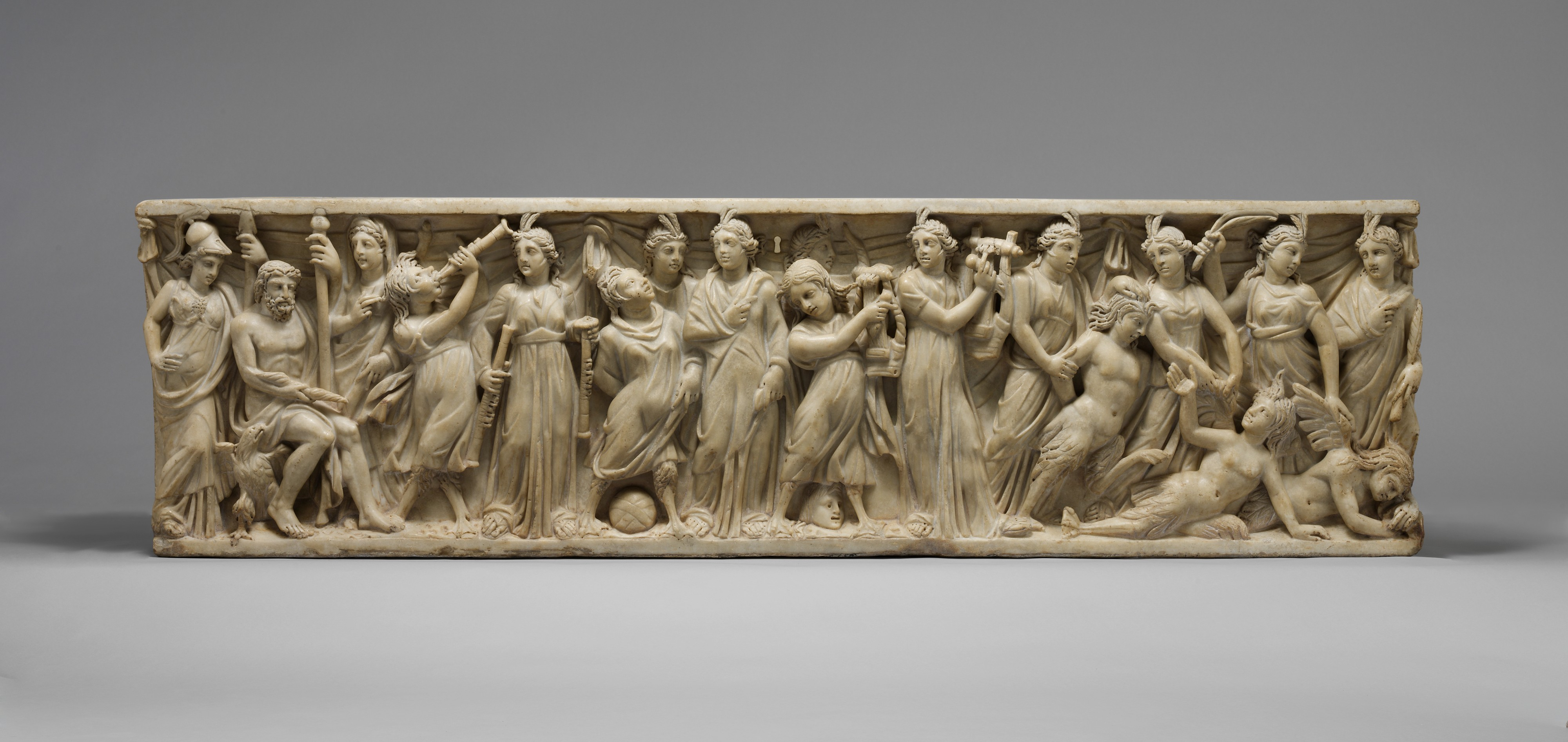 Share by Email & Marble sarcophagus with the contest between the Muses and the ... islam-shia.org
