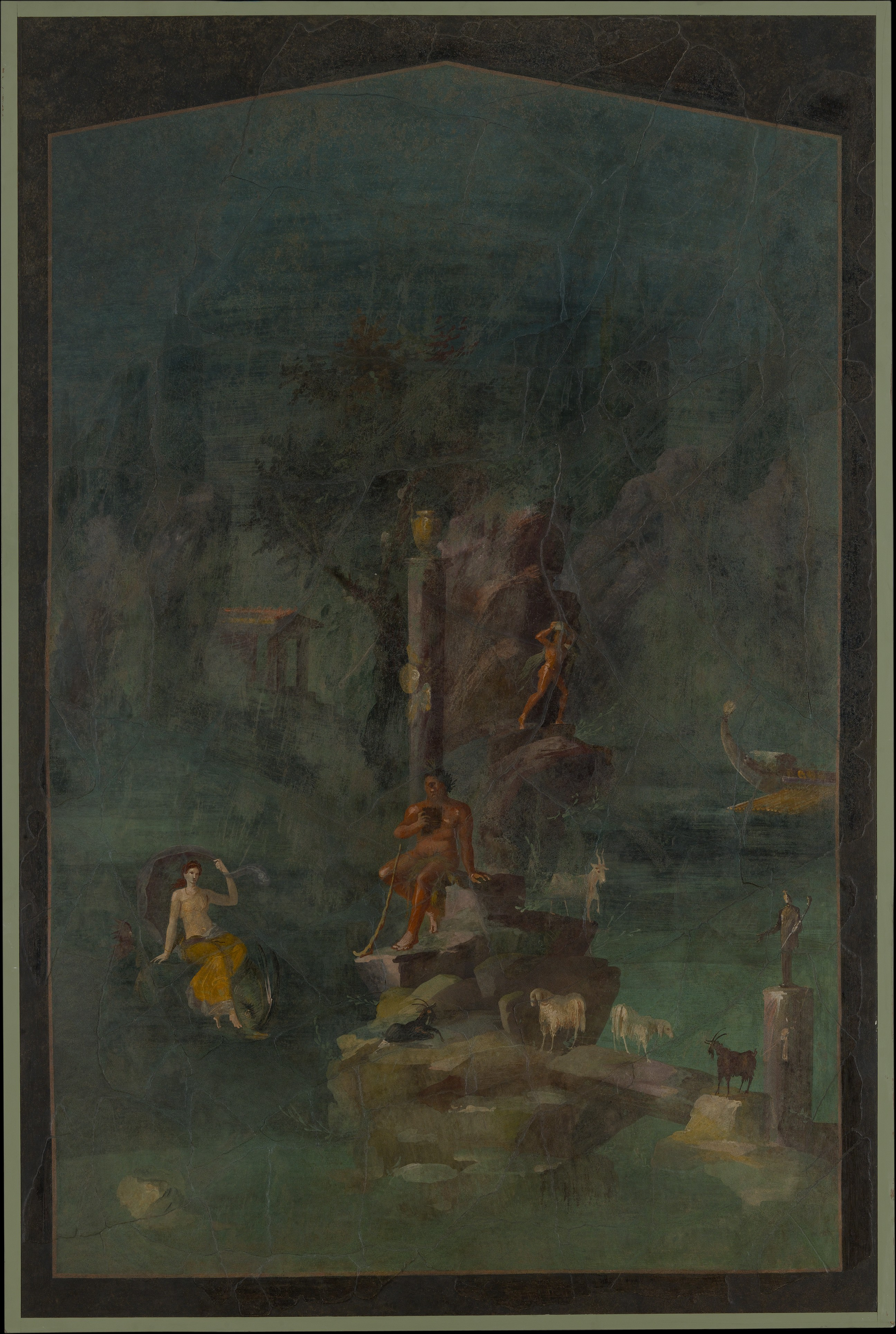 Wall Painting Polyphemus And Galatea In A Landscape From