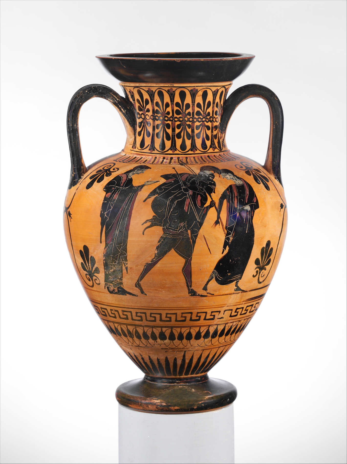 Terracotta Neck Amphora Jar Greek Attic Archaic