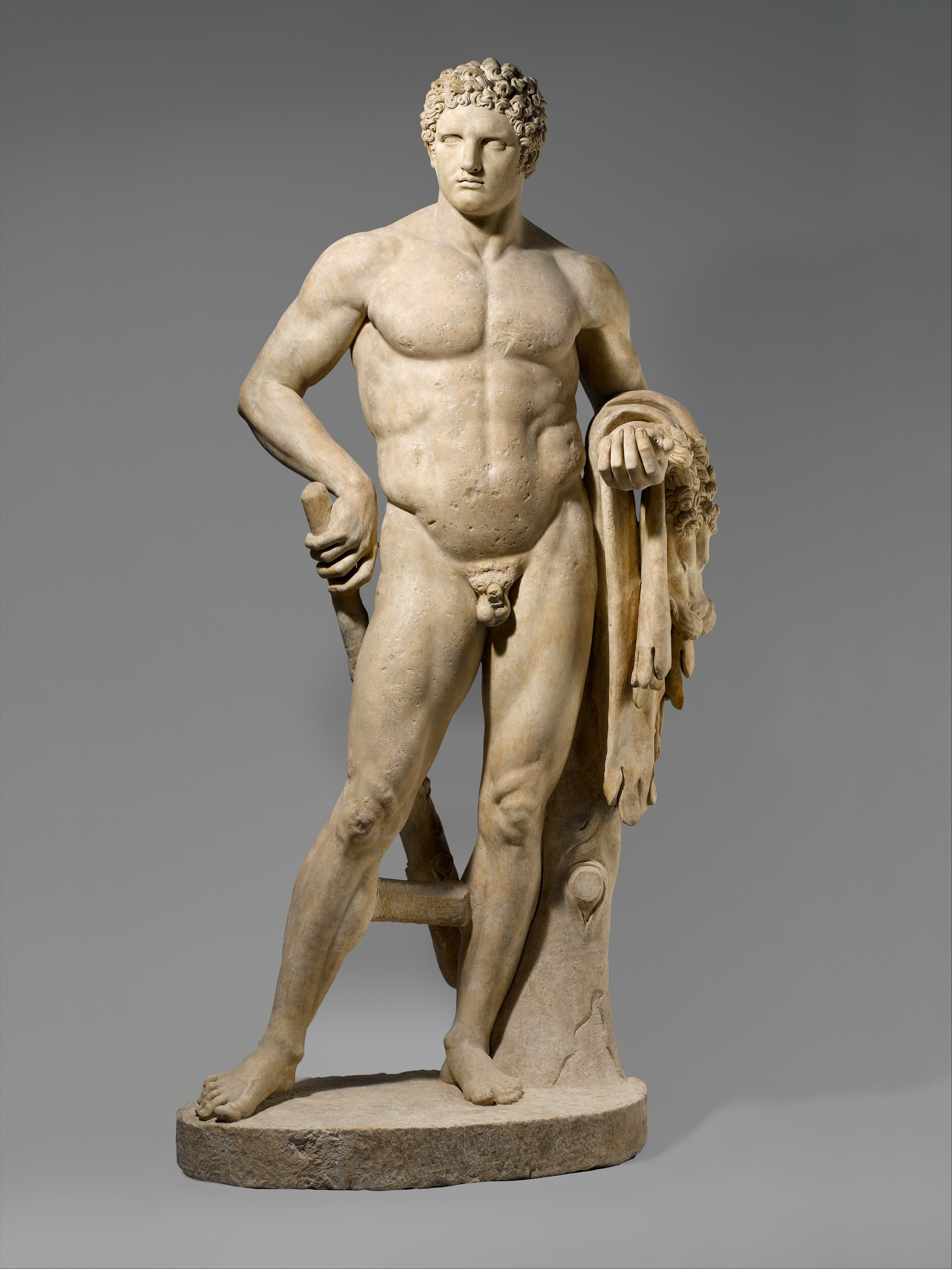 marble statue of a youthful hercules roman early imperial