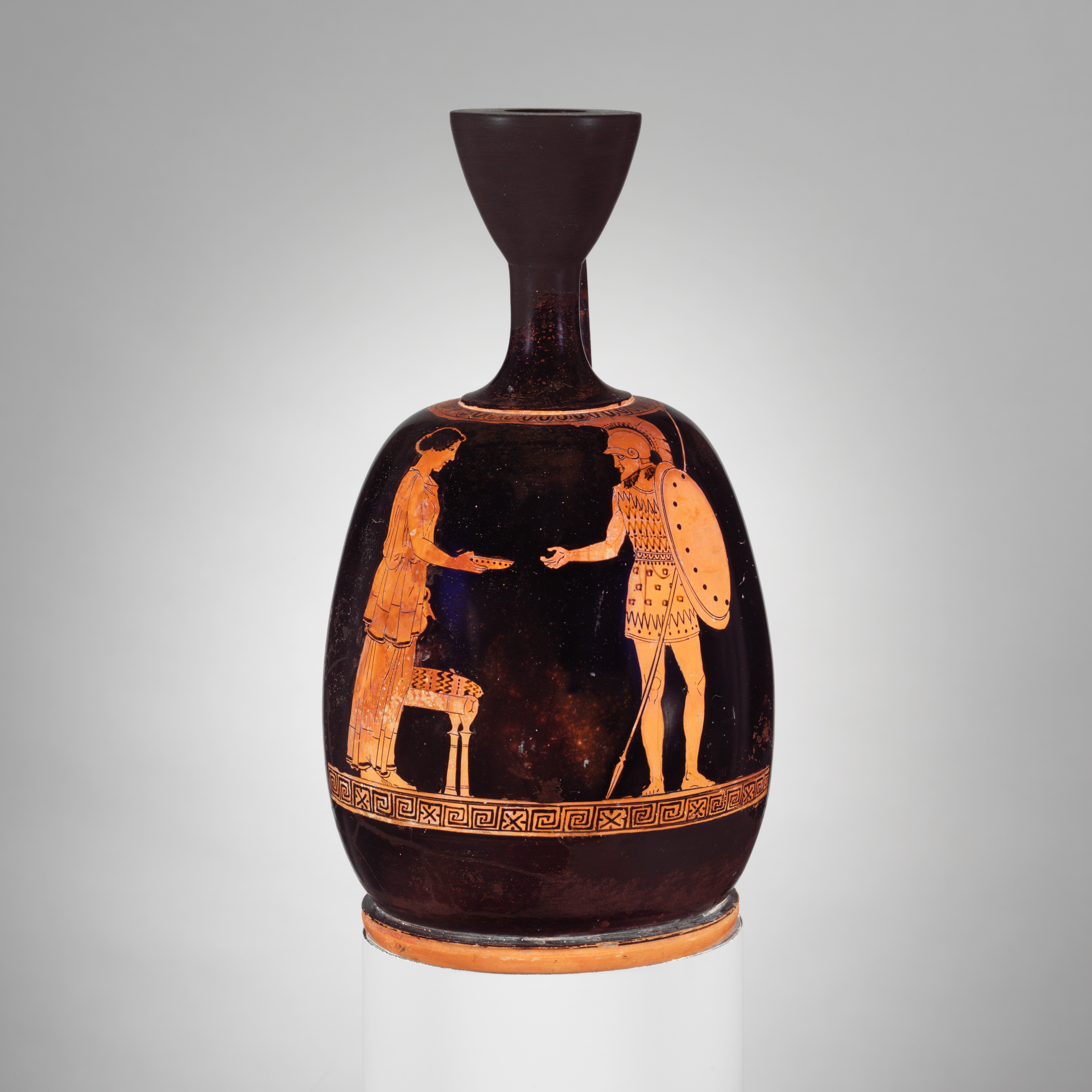 Attributed to the achilles painter terracotta squat lekythos share by email reviewsmspy