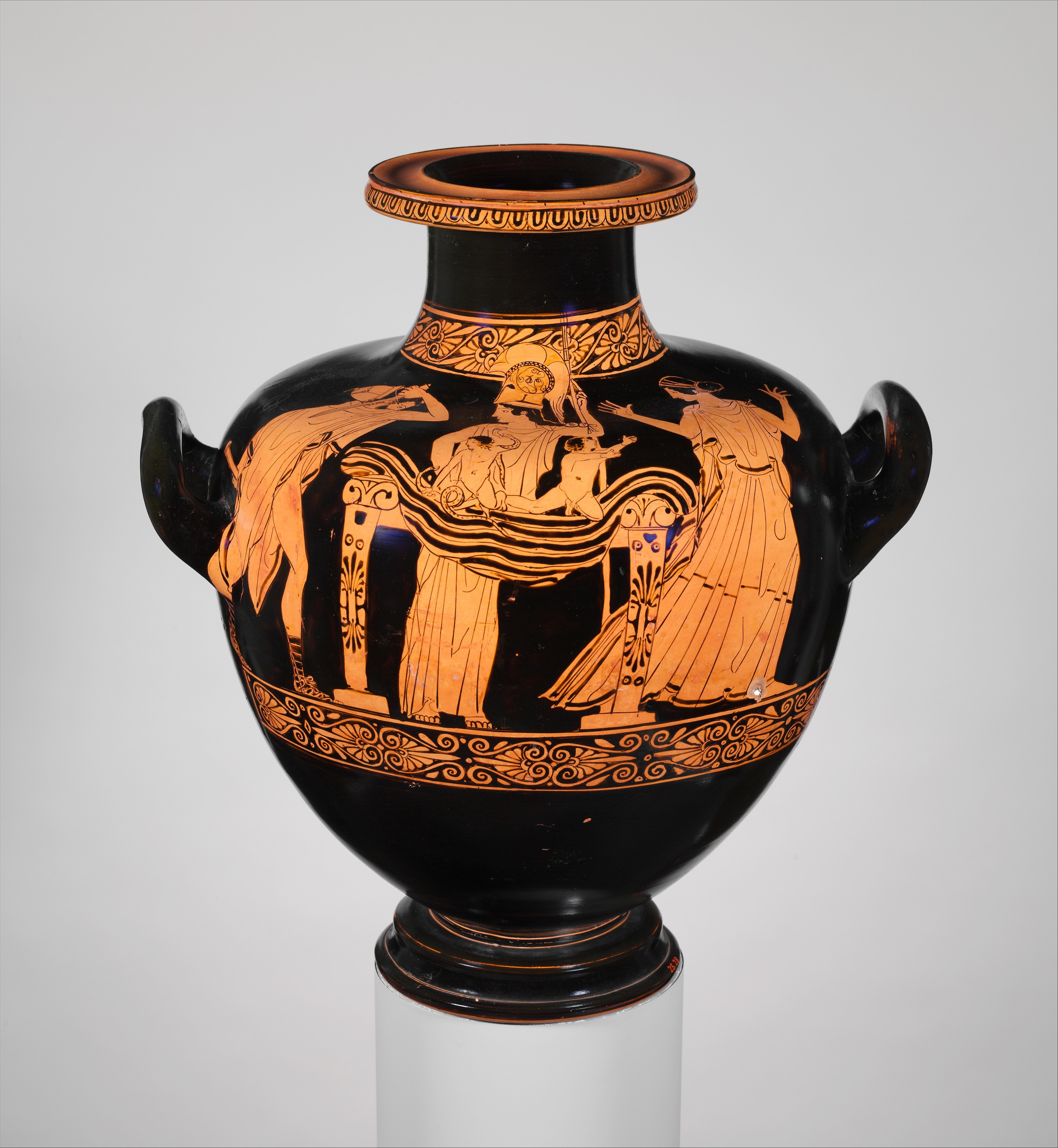Attributed To The Nausica 228 Painter Terracotta Hydria