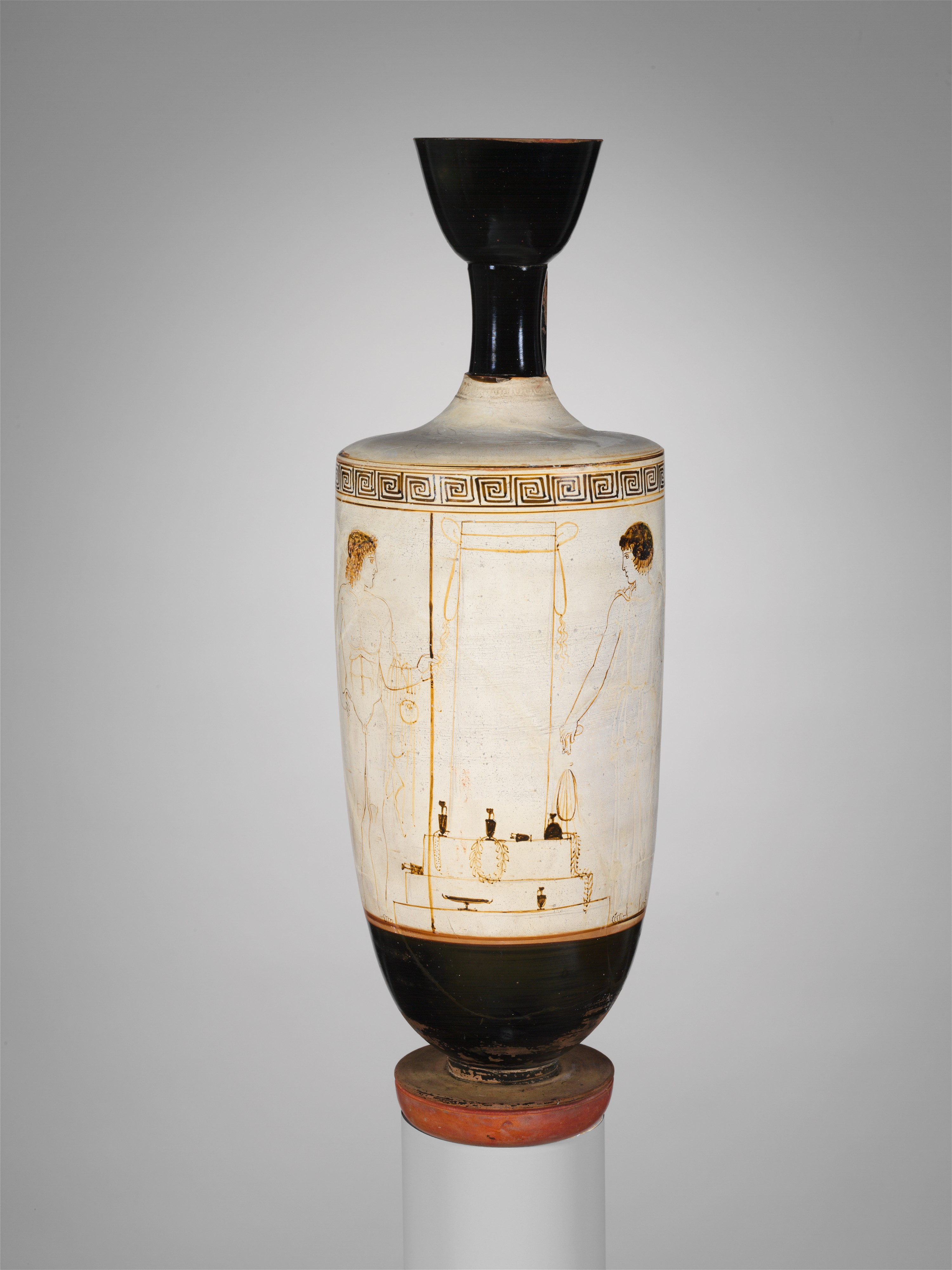 Attributed To The Bosanquet Painter Terracotta Lekythos Oil Flask Greek Attic Classical