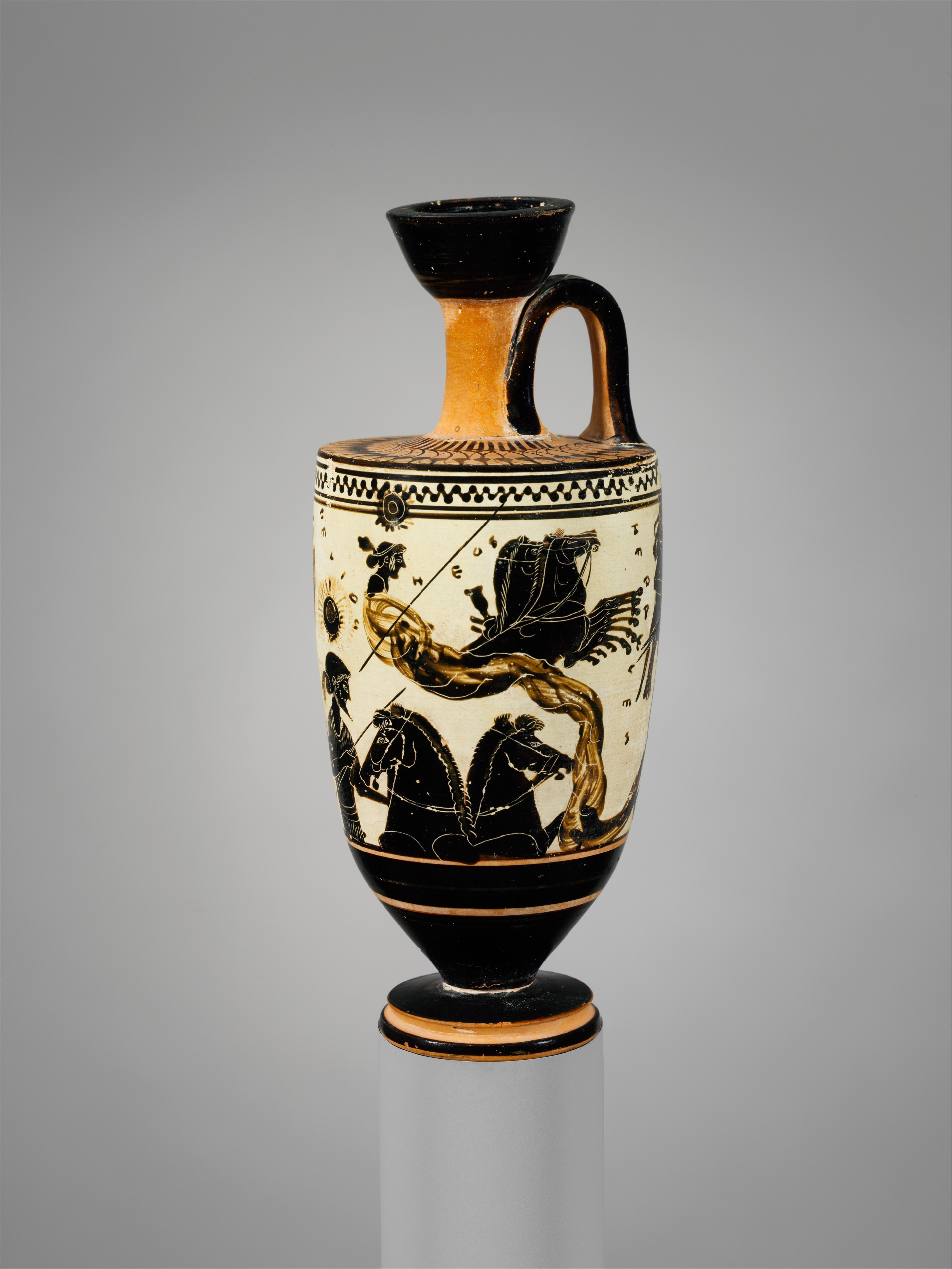 Attributed to the Sappho Painter Terracotta lekythos