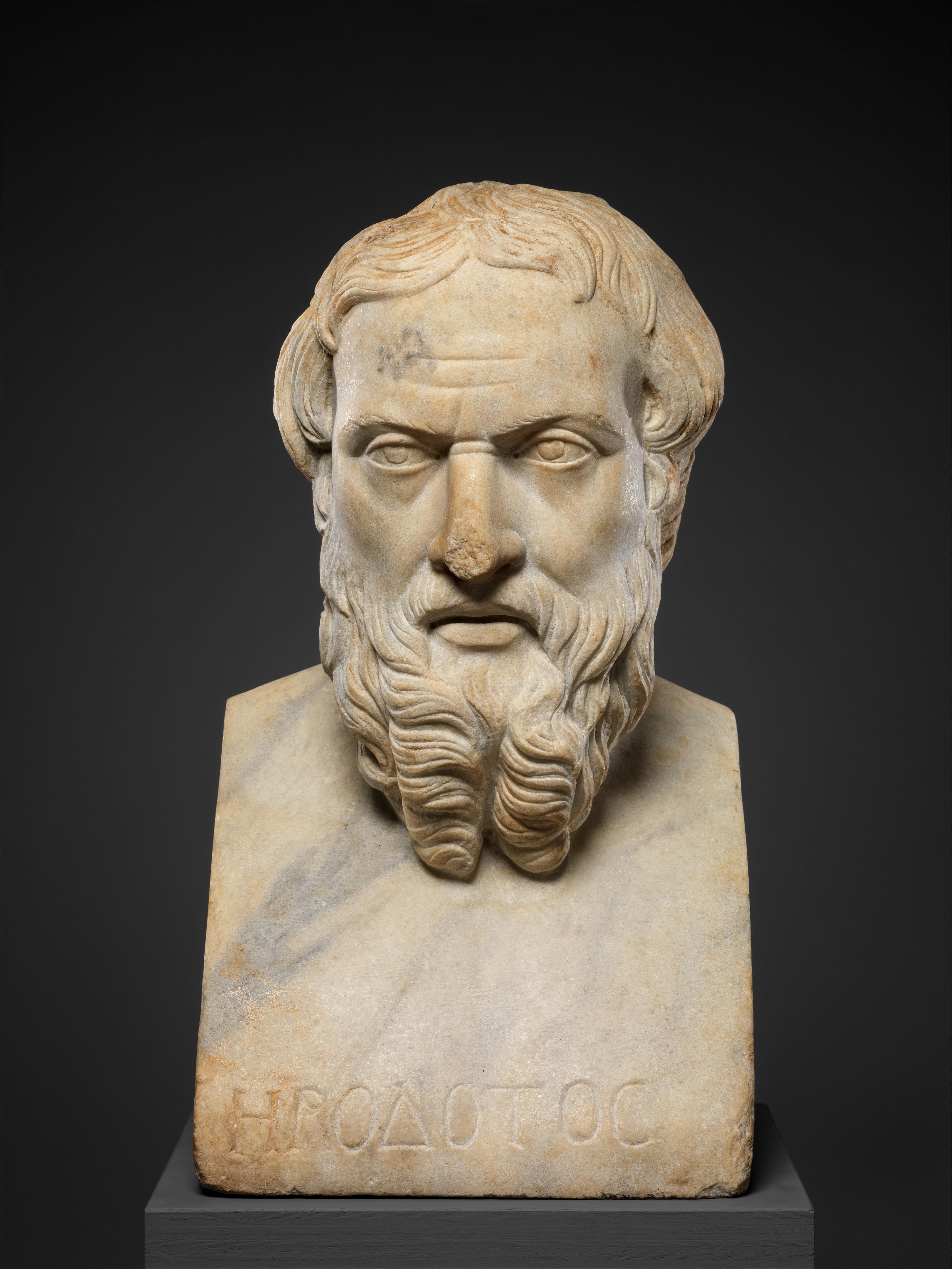 Marble Bust Of Herodotos Roman Imperial The Met