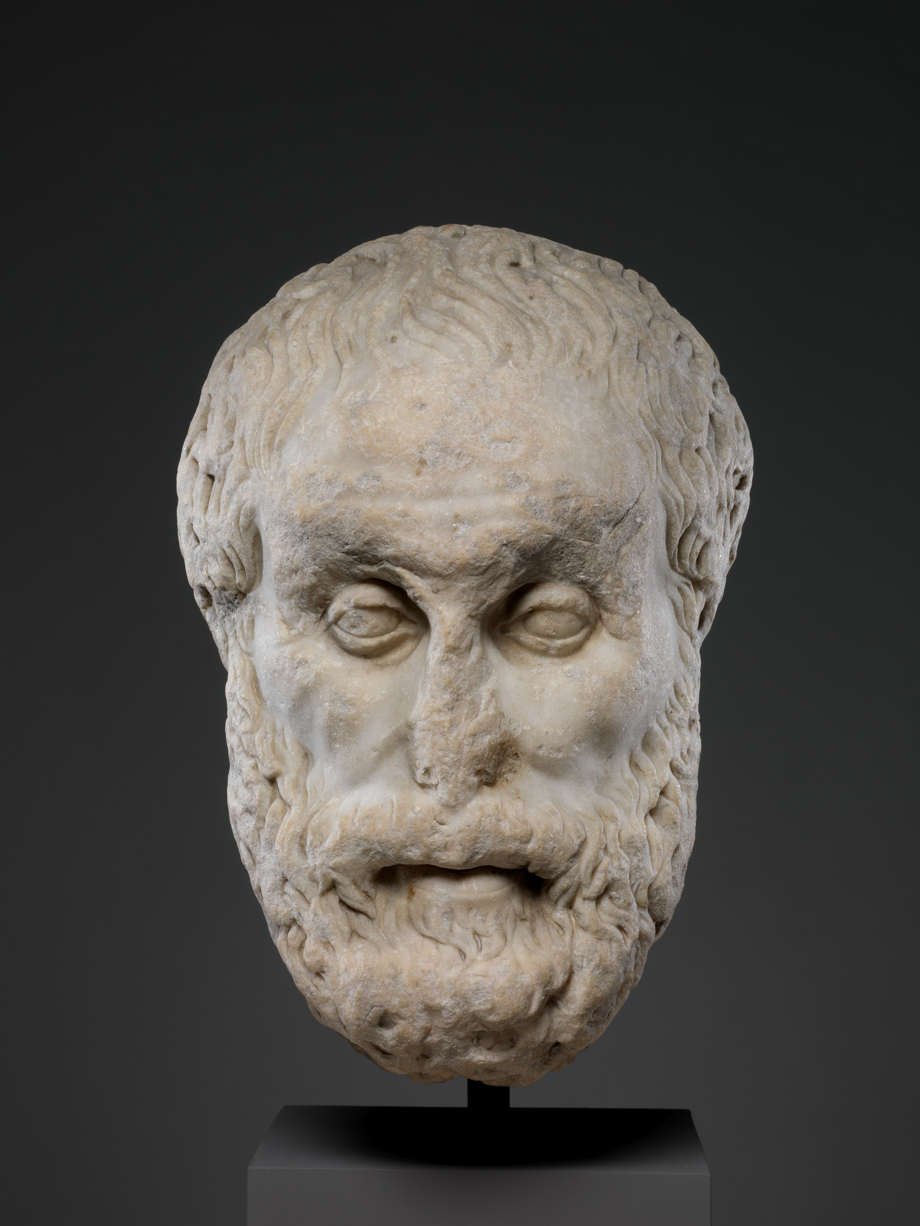 Marble Head Of A Philosopher Roman Imperial The Met