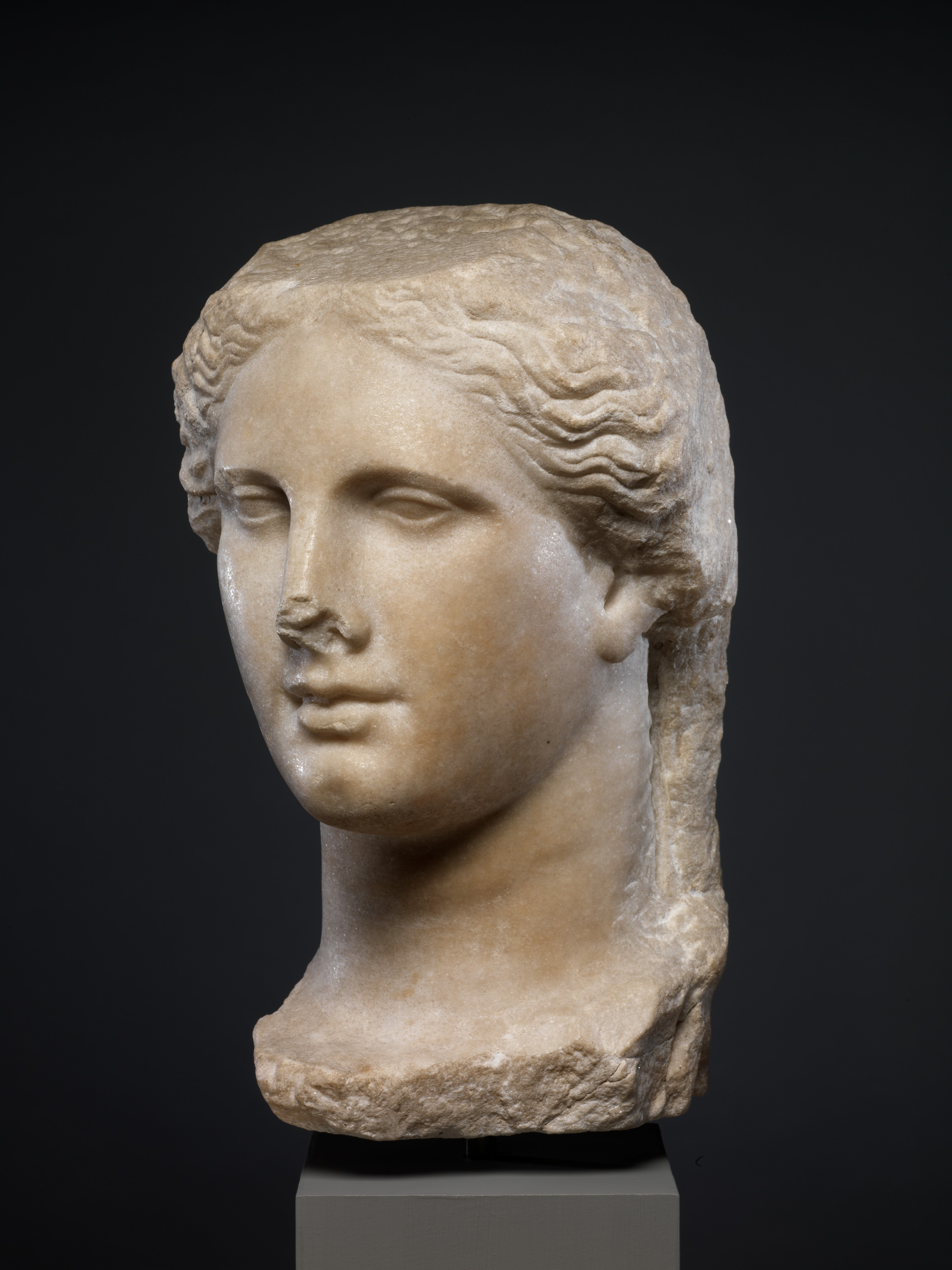 Marble Head Of A Ptolemaic Queen Greek Hellenistic