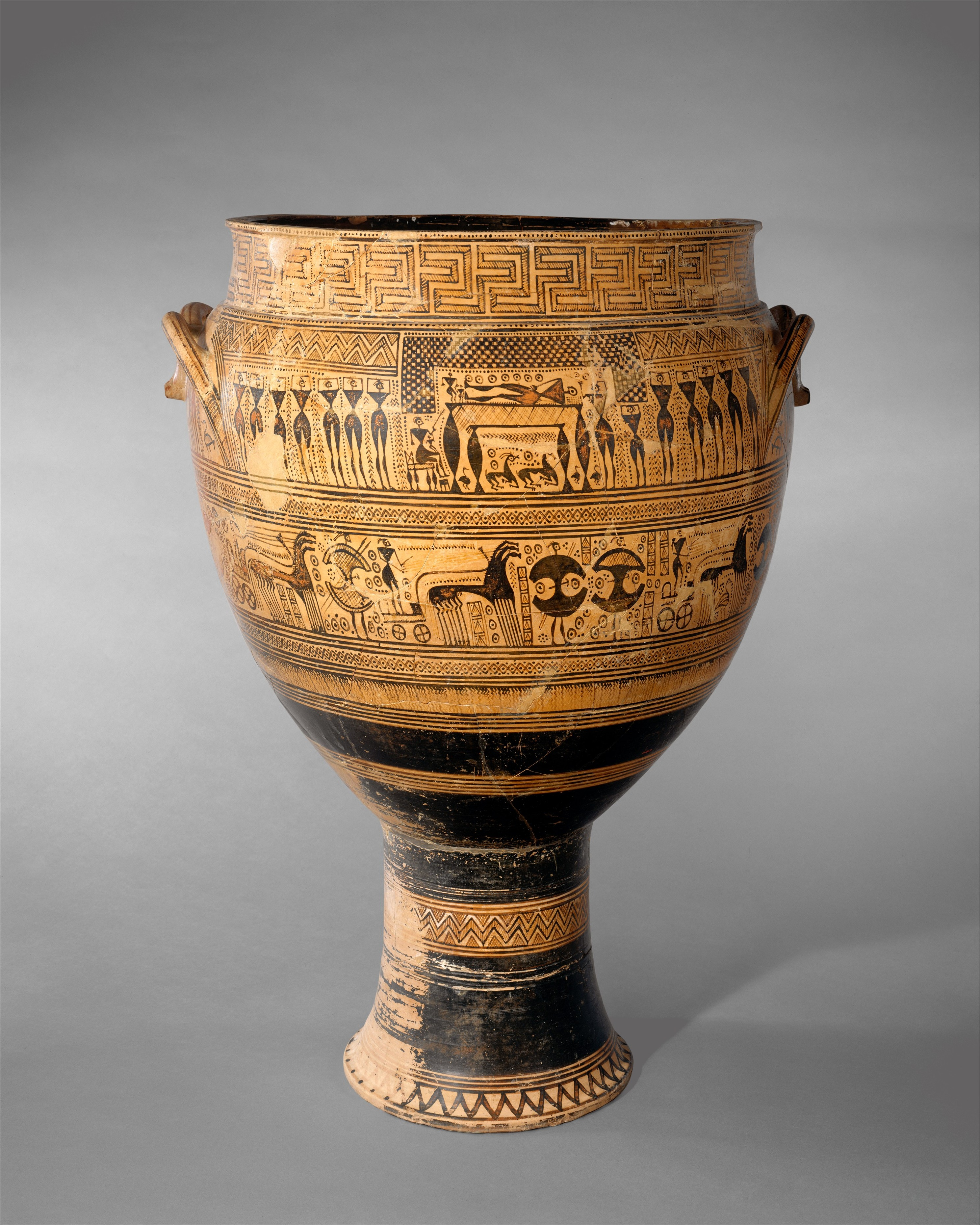 Attributed To The Hirschfeld Workshop Terracotta Krater Greek Attic Geometric The Met