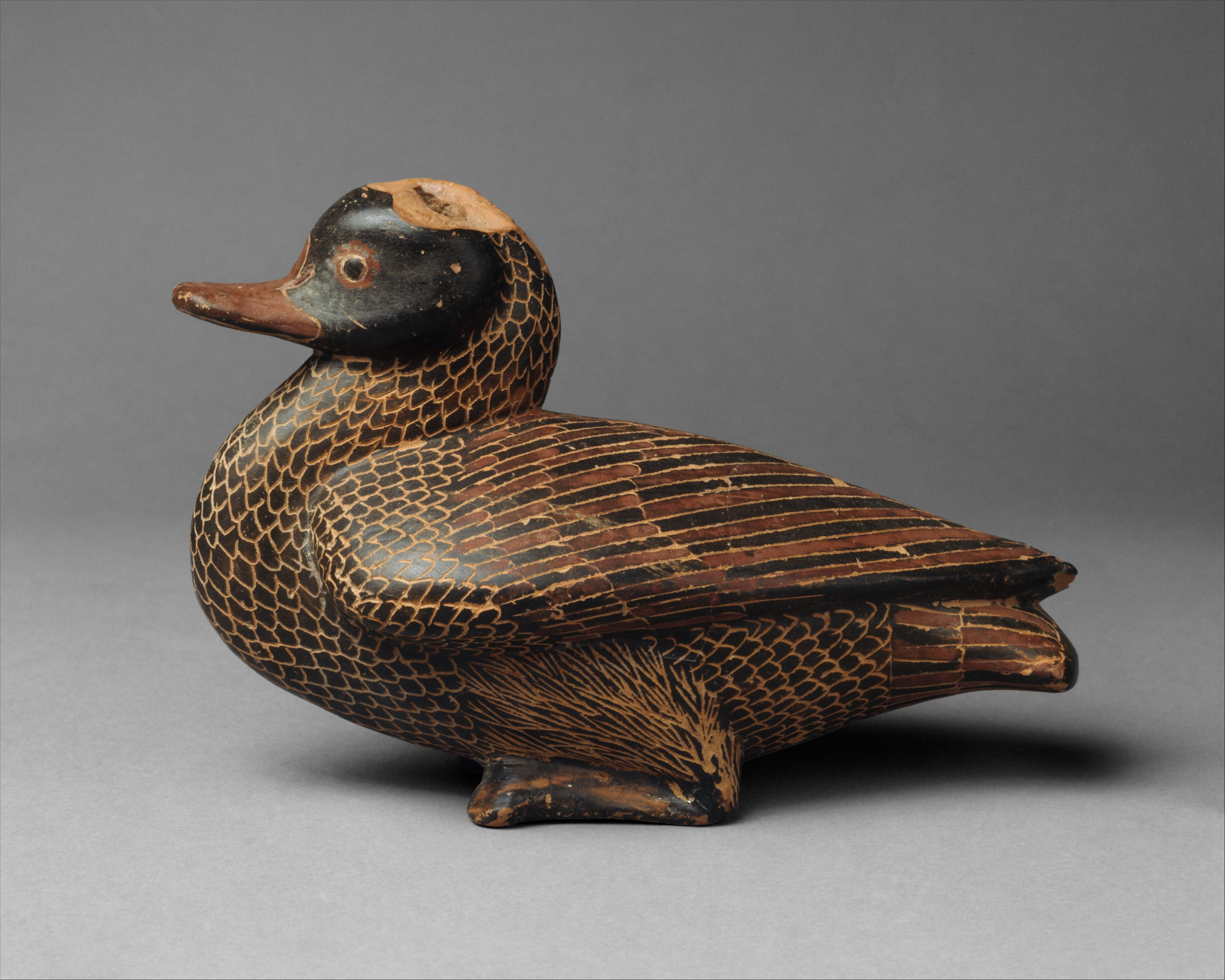 Terracotta vase in the form of a duck | East Greek | Archaic | The Met