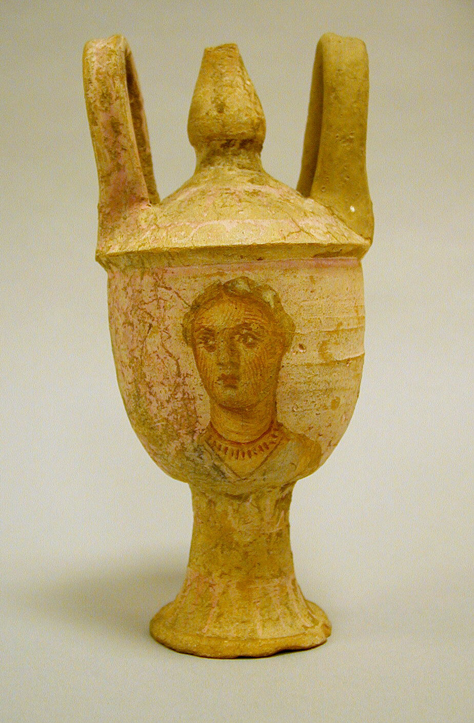 Terracotta lebes gamikos (jar associated with weddings) with lid ...