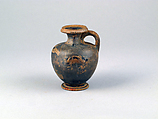 Hydria, miniature, Terracotta, Greek, Attic