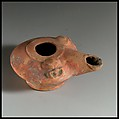 Terracotta oil lamp, Terracotta, Greek