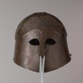 Bronze helmet of South Italian-Corinthian type, bronze, Greek