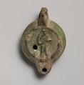 Terracotta lamp, Terracotta, Roman