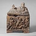 Alabaster cinerary urn, Alabaster, Etruscan