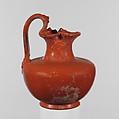 Terracotta oinochoe (wine jug), Terracotta, Roman
