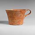 Terracotta straight-sided cup, Terracotta, Minoan