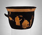 Terracotta bell-krater (bowl for mixing wine and water), Terracotta, Greek, Attic