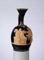 Terracotta lekythos (oil flask), Terracotta, Greek, Attic