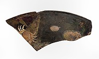 Glass cameo fragment of a large platter or tabletop, Glass, Roman
