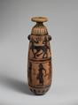 Terracotta alabastron (perfume vase), Terracotta, Etruscan