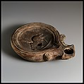 Terracotta oil lamp, Terracotta, Roman, Cypriot