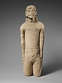 Limestone statuette of a male votary with Cypriot shorts and a diadem, Limestone, Cypriot