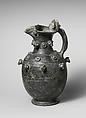 Terracotta trefoil oinochoe (jug), Terracotta, Etruscan