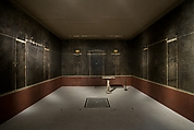 Wall painting on black ground: supports with entablature, from the imperial villa at Boscotrecase, Fresco, Roman, Pompeian