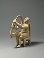 Marble seated harp player, Marble, Cycladic