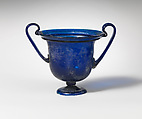 Glass cantharus (drinking cup), Glass, Roman