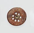 Segment from a bronze fibula (safety pin), Amber, Etruscan