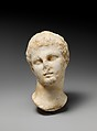 Marble head of a youth, Marble, Greek