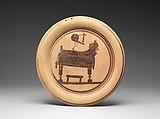 Terracotta plate, Possibly by the Chimaera Painter, Terracotta, Greek, Corinthian