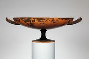 Terracotta kylix (drinking cup), Attributed to the Magnoncourt Painter (namepiece), Terracotta, Greek, Attic
