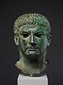 Bronze portrait of a man, Bronze, Roman