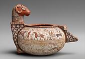 Terracotta cosmetic vase, Terracotta, East Greek