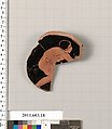 Fragment of a terracotta stemless kylix, Terracotta, Greek, Attic