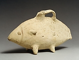 Terracotta askos (vessel) in the form of a fish, Terracotta, Cypriot