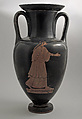 Nolan neck-amphora with ridged handles, Attributed to the Bowdoin Painter, Terracotta, Greek, Attic