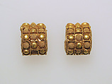 Earring, baule type, Gold, Etruscan