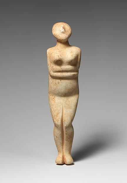 Marble female figure, Marble, Cycladic