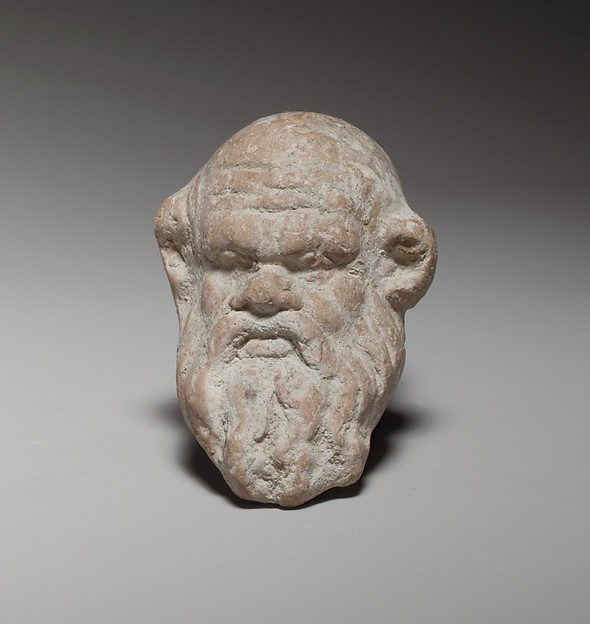Head of Silenos, Terracotta, Cypriot