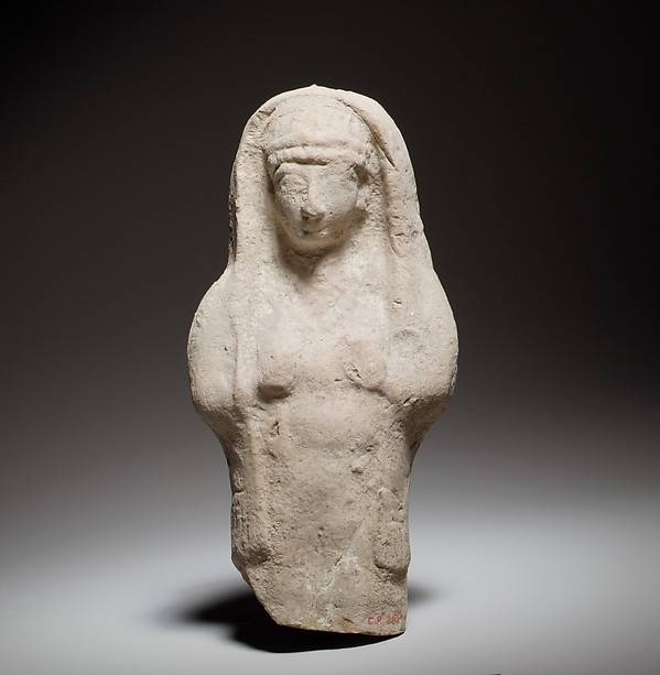 Standing female figurine, Terracotta, Cypriot