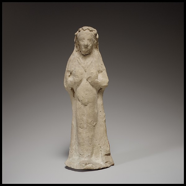 Terracotta statuette of a woman, Terracotta, Cypriot