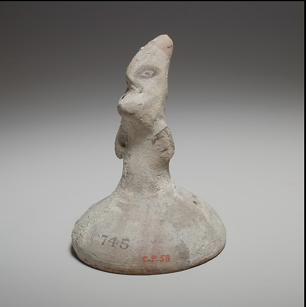 Standing male figurine, Terracotta, Cypriot