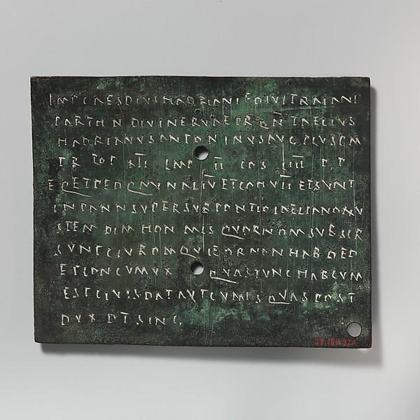 Bronze military diploma, Bronze, Roman