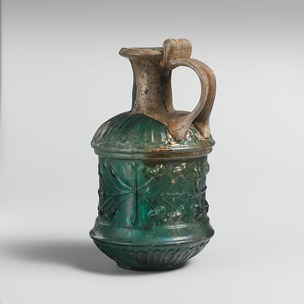 Glass jug, Glass, Roman