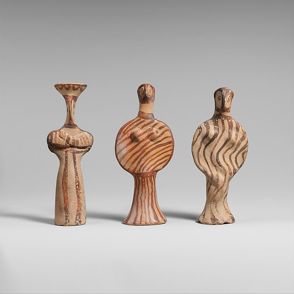 Terracotta female figure, Terracotta, Helladic, Mycenaean